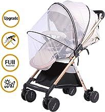 Universal Mückennetz/Insektenschutz für Kinderwagen/Babywagen Mückennetz, Extra gross, Feinmaschig, Reißfest & Waschbar Idealer Schutz vor Wespen & Stechmücken