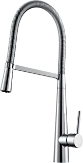 Large Kitchen Mixer Tap Brass Pull Out Multi-Function with Flexi-Spray Polished Chrome Flow Kmest