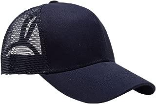 Dolity Cotton High Bun Ponytail Baseball Cap Hat Adjustable Trucker Hat for Women Girls