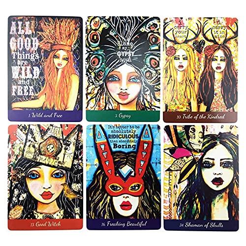 Baraja Cartas Tarot Tarot Card Deck 44pcs AMOR de su diosa interior Oracle Divinación Futuro Fate Prediction Misterioso Astrología Tablero Juego Tarot Conjunto de cartas, para principiantes o con expe