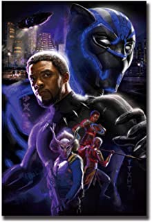 wzgsffs Black Panther Movie Hot Poster Art Canvas Paintings Room Decoration Print Wall Pictures Living Room Home Decoration -20x28 Pulgadas Sin Marco