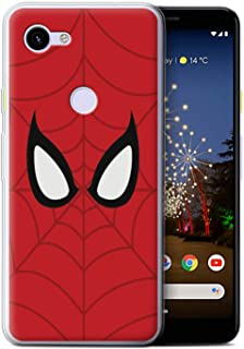 eSwish Gel TPU Phone Case/Cover for Google Pixel 3a / Spider-Man Mask Inspired Design/Super Hero Comic Art Collection