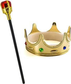 Tigerdoe Kings Crown - Royal King Crowns and Princess Tiara - Queen Costume Accessories