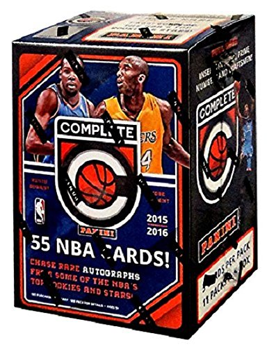 NBA 2015/16 Panini Complete Basketball Blaster Box Trading Cards, Small, Black