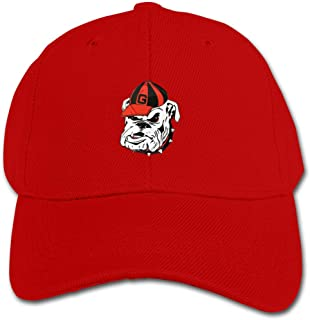 Boy's Peaked Baseball Caps Georgia Bulldogs Logo Solid Color Snapback Hats