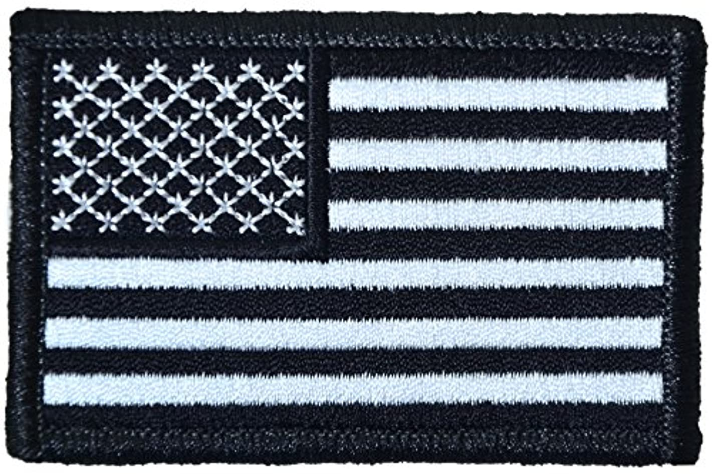 Tactical USA Flag Patch - Black and White 2