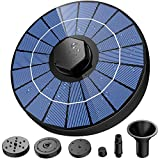 ZATK 3.5W Solar Fountain, 1500mAh Battery Backup, Bird Bath Fountain with 8 Water Styles, Solar Bird Bath Fountain for Bird Bath, Pond, Pool, Fish Tank, Aquarium and Garde
