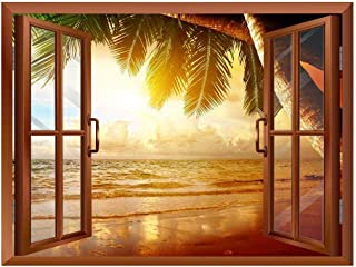 wall26 - Sunrise on The Oceanside Removable Wall Sticker/Wall Mural - 36