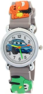 TimerMall Cartoon 3D Yellow Silicon Rubber Strap Kids Boys Girls Children Analog Time Teacher Watch