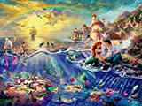 Ceaco Thomas Kinkade The Disney Collection The Little Mermaid Jigsaw Puzzle, 750 Pieces