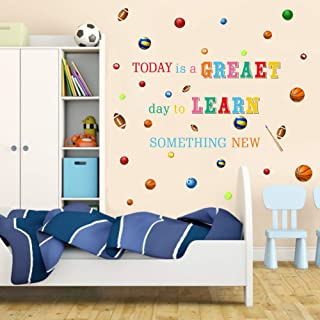 TOARTi Colorful Inspirational Quote Wall Decal-Today is A Greaet Day to Learn Something New,Positive Attitude Wall Sticker...