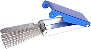 Guitar Nut Bridge Saddle File Set Metal Nut Bridge File Grinding Needles Grinding Stone Abrasive Tool for Guitar Ukulele G...