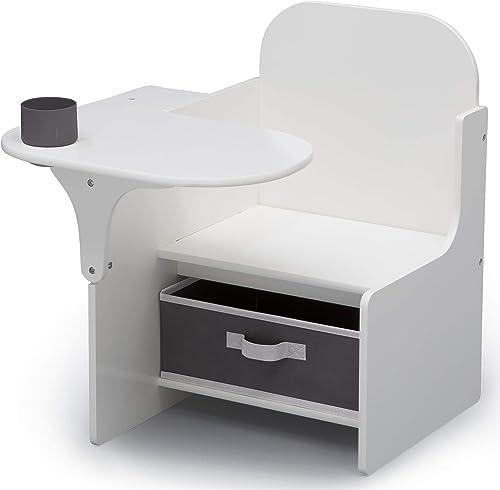 Delta Children MySize Chair Desk with Storage Bin, Bianca White