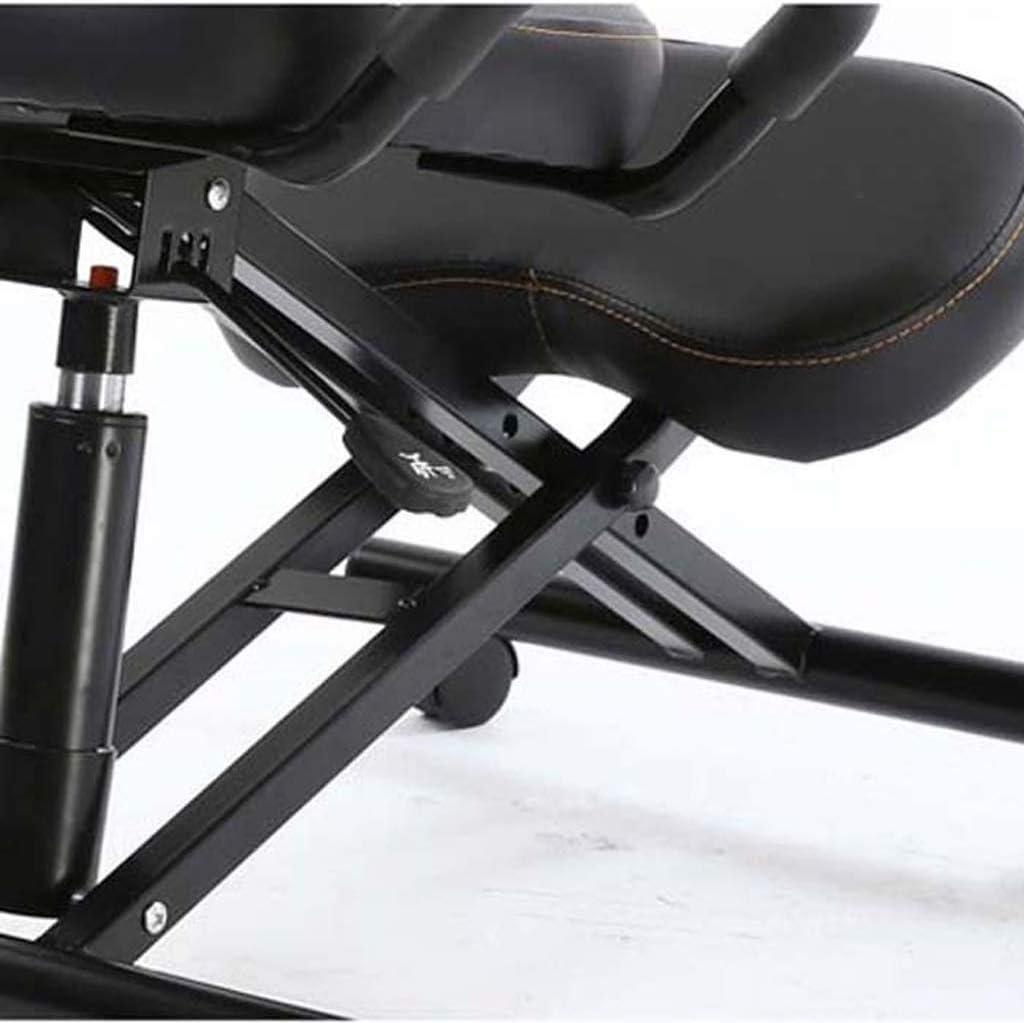 GXK Chaise genoux avec support dorsal, chaises de bureau, cadre de posture ergonomique, tabouret de bureau, soins de santé (couleur : noir) Violet