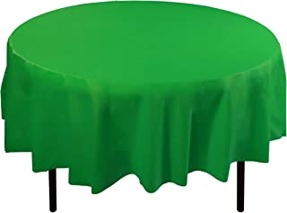 Best round tablecloth green Reviews