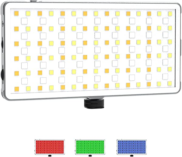 DIGITEK Portable Professional RGB LED Video Light (LED-D135 ML RGB) Equipped with Bundle of Advanced Features Like Brightness & Color Temperature, Hue & Saturation Settings etc. (LED-D135 ML)