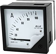 uxcell 80mm x 80mm Square Panel AC 100A Amplifier Meter Ammeter Pointer