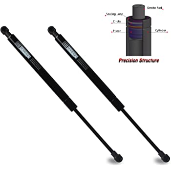 2 MYSMOT Qty Rear Trunk Gas Charged Lift Supports Shocks Springs For 2000-2010 Lexus SC430 Base Convertible Trunk Without Spoiler 6423,6453024052