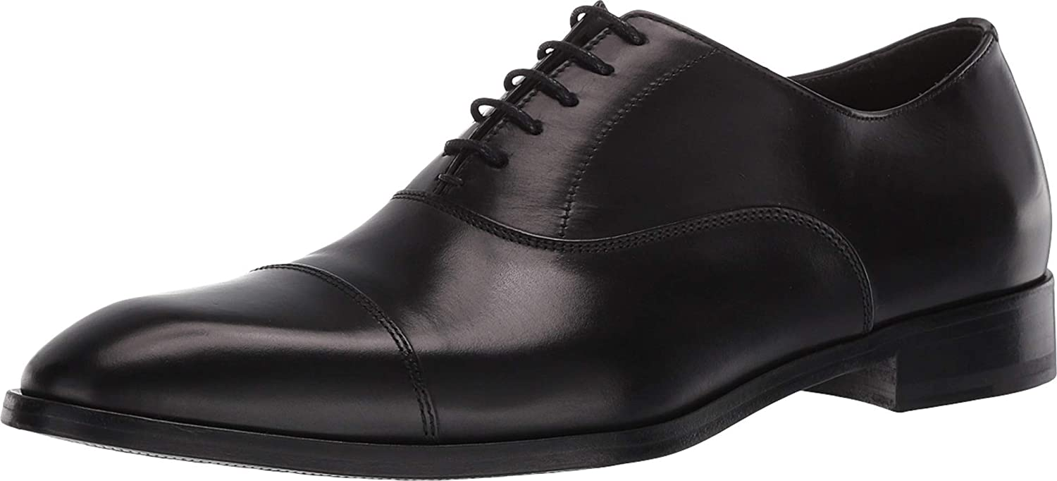 Gordon Rush Evans - Men's High End Cap Toe Oxford Handcrafted in Italy. Blake Constructed Dress Shoes with Premium Italian Calfskin Upper, Leather Lining, and Leather Sole.