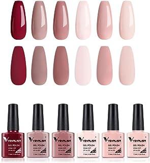 VENALISA Gel Nail Polish Set - 6 Colors Baby Pink Series Spring Summer Gel Polish Starter Kit Gel Nail Colors Soak Off UV ...