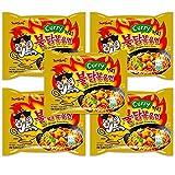Samyang Ramen Korean Noodles Hot/Mild / Stir Fries/Soups (Buldak Curry.5Pack)
