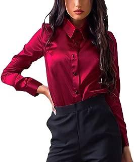 Big Promotion! Women Shirts WEUIE Womens Button Fashion Casual Tops Long Sleeve Shirt Blouse