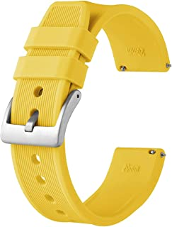 Anbeer Superior Silicone Watch Bands 18mm 20mm 22mm 24mm, Quick Release Soft Rubber Sport Strap