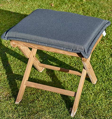 Destiny Polster für Gartenhocker Grau 50 x 45 Hocker Fußhocker Sessel Auflage