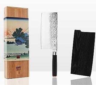 KOTAI - Hachoir Chinois - Couperet - Feuille de Boucher (Couteau de Boucher) - Lame de 19 cm Martelée en Acier Japonais In...