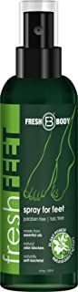FRESH FEET by Fresh Body 4 oz Spray by the trusted Creator of Fresh Balls! Natural Anti-Bacterial Odor Fighting Protection Spray with Essential Oils for Feet & Shoes! (1 Pack)