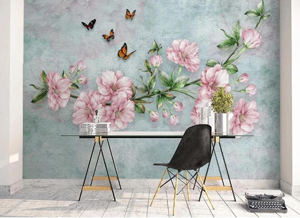 Ranking TOP7 Wall Mural 3D Wallpaper Pink Butterfly Wallpa Flower Murals Max 43% OFF