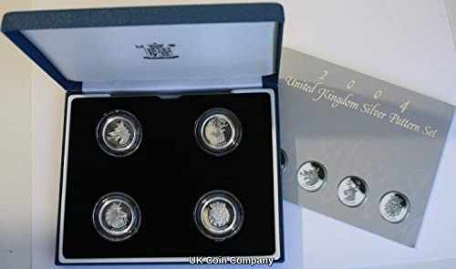 2004 Heraldic Beasts Sterling Silber Proof Royal Mint Pattern Four Coin Set