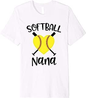 Womens Softball Nana Baseball Game Day Grandma Gift Premium T-Shirt