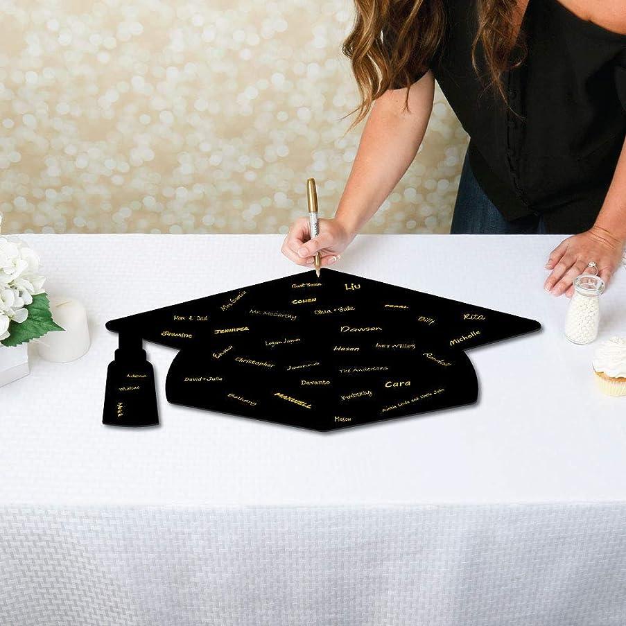 Big Dot of Happiness Signature Grad Cap - Shaped Guest Book Sign - Foam Board Graduation Party Guestbook Alternative - Grad Cap