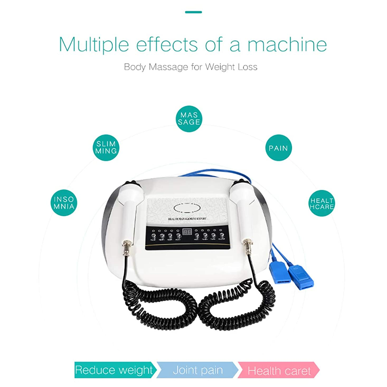 工業化する人気の干渉する体脂肪リムーバーマシン、デバイスマッサージャーを締め付け減量ソニックブルーとレッドライトスキンのためのEMSスリミングマッサージ
