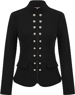 Women's Open Front Work Blazer Casual Buttons Jacket Suit Cardigan