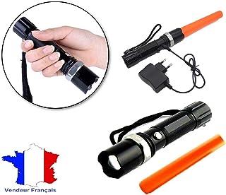 XIUHU 40cm Baton Lumineux LED Lumi/ère Constante Baton De S/écurit/é Signalisation De S/écurit/é