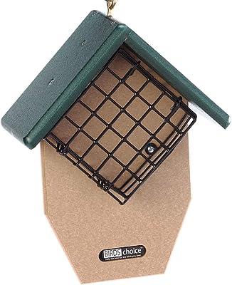 Birds Choice SNDTP Bird 2-Cake Feeder with Angled Suet Basket