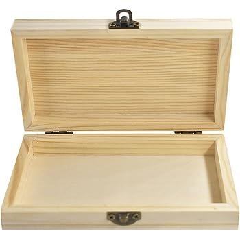 Kentop - Caja de madera con tapa, universal, multiusos, caja de regalo: Amazon.es: Hogar
