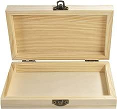 Peque/ña portaobjetos Decoupage Estuche para Joyas Pendientes Anillos Caja ba/úl de 2 Piezas de Madera RF/_64886 takestop/® 6 x 3,5 x 4 cm