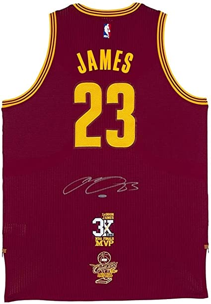 LeBron James Signed Auto Authentic Red Jersey Finals and MVP Patch ...
