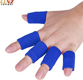 Luniquz Finger Sleeves, Thumb Splint Brace for Finger Support, Relieve Pain for Arthritis,Triggger Finger, Compression Aid for Sports, Blue