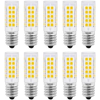 E14 Bombilla LED, 5 vatios equivalente a 50 vatios, blanco cálido 3000K para campana extractora, 500 lúmenes, AC220-230V, no regulable, tornillo Edison pequeño 2835SMD lámpara 10PCS: Amazon.es: Iluminación