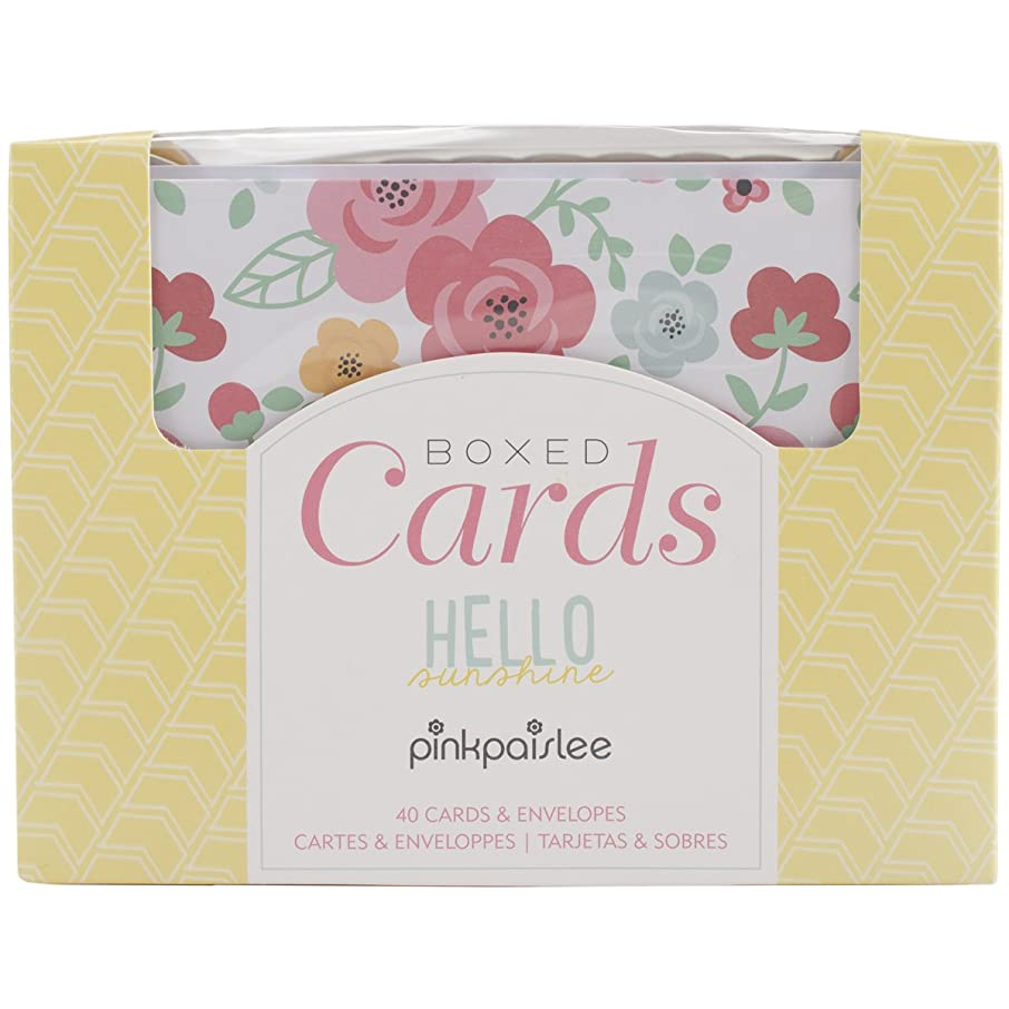 American Crafts 369616 Pink Paislee A2 Cards & Envelopes (4.25