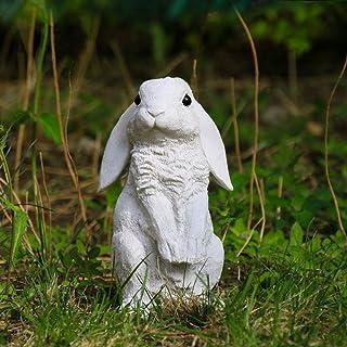 قطعة واحدة من تمثال أرنب بوليريسين يقف على شكل أرنب ، ديكورات هالوين ، تماثيل حديقة ، تماثيل خارجية ، ديكورات الحديقة ، تم...