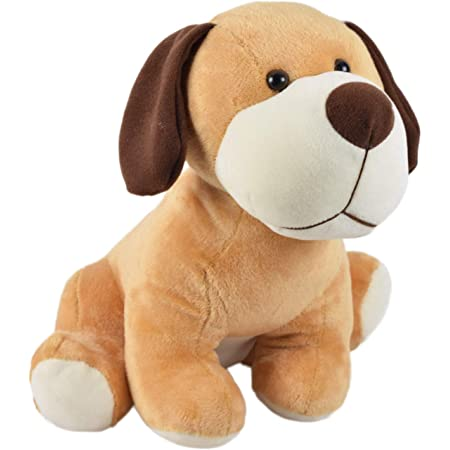 Ultra Cute Sitting Dog Soft Toy 12 Inches Brown