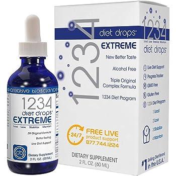 Creative Bioscience 1234 Diet Drops Extreme for Women & Men, Diet Drops for Weight Management, Keto Diet Drops, 2 Fl Oz