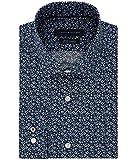 Tommy Hilfiger Mens Floral Print Button Up Dress Shirt Jade 15.5