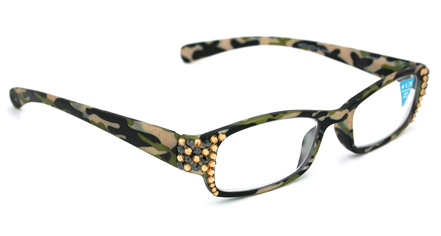 The Woodland Bling Rectangular We OFFer at cheap prices Women Glasses Japan Maker New Genui with Reading