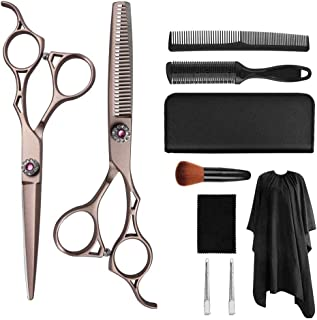 """Professional 6.0"""" Hairdressing Barber Scissors Hair Cutting Thinning Texturing Salon Shears with Adjustable Screw Set,Meta..."""